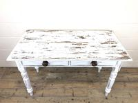 Distressed White Painted Victorian Pine Table (4 of 8)