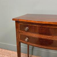 Elegant Victorian Mahogany Bow Front Antique Side Table (2 of 5)