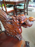 Antique Chinese Qing Dynasty Rosewood Throne Chair (3 of 10)