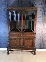Oak Twist Leg Bookcase (11 of 13)