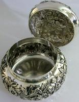 Superb Large American Sterling Silver Pot Box Tea Caddy S Kirk c.1900 (7 of 10)