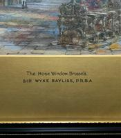Sir Wyke Bayliss PRBA HRMS Rose Window Brussels Watercolour Painting (5 of 16)