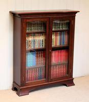 Edwardian Mahogany Glazed Bookcase c.1910 (9 of 11)