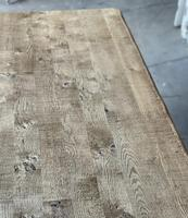 Superb Rustic Large Bleached Oak Farmhouse Table with Extensions (7 of 36)
