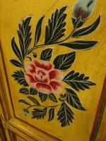 Vintage Indian Folk Art Bohemian Painted Cabinet Larder Linen Press Cupboard (11 of 13)