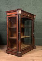 Superb ebonized and amboyna glazed pier cabinet (7 of 8)