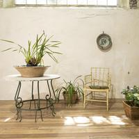"""A 20th Century French Iron and Marble """"orangerie"""" Centre - Garden Table (6 of 13)"""