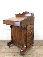 Late Victorian Inlaid Rosewood Davenport Desk (16 of 17)