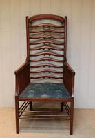 Arts And Crafts Mahogany Ladder Back Armchair (6 of 10)