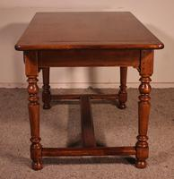 19th Century French Two Drawer Desk with Turned Feet (5 of 12)