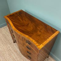 Stunning Georgian Mahogany Antique Serpentine Front Chest of Drawers (4 of 10)