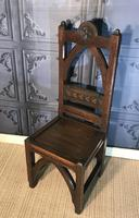 Victorian Gothic Revival Hall Chair (3 of 13)