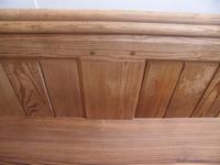 Victorian Antique Pine Pew 1868 from St Cynbryds Church to wax / paint (7 of 9)
