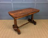Good William IV Rosewood Library Stretcher Table