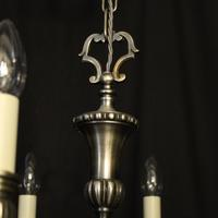 French Brass Silver Plated 8 Light Chandelier (6 of 10)