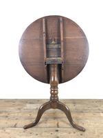 19th Century Oak Circular Tilt Top Tripod Table (7 of 11)