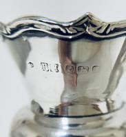Pair of Antique Sterling Silver Trumpet Shaped Vases (7 of 12)