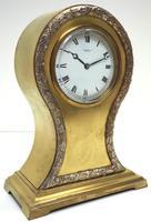 Impressive Ormolu Edwardian Balloon Timepiece Mantel Clock by Preston's Bolton (10 of 11)