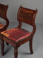 Rare Pair of Brass Inlaid Mahogany & Leather Library Chairs (7 of 19)
