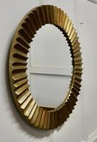 Heavy Brass Art Deco Odeon Sunburst Mirror (3 of 5)