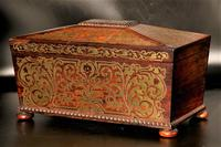 Exceptional Regency Period Brass Inlaid Tea Caddy (2 of 5)