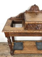 Antique Victorian Carved Oak Hall Stand (3 of 14)