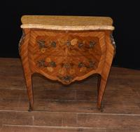 Antique French Commode Nightstand - Bombe Chest (2 of 8)