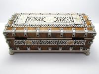Quality Victorian Anglo Indian Antique Vizagapatam Trinket Jewellery Box Casket, 19th Century India (4 of 11)