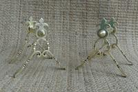 Quality Aesthetic Movement Brass Fire-Dogs Fire Iron Rests Andirons c.1880 (2 of 7)