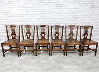 Set of 6 Georgian Welsh Oak Dining Chairs (4 of 8)