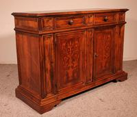 Italian Credenza In Walnut And Pear Wood Inlays - 17th Century (2 of 13)