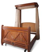 Oak Half Tester Bed (9 of 19)