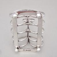 Fabulous Regency Revival Silver Toast Rack by Pairpoint Brothers, London 1932 (7 of 8)