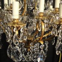 French Gilded Bronze 17 Light Crystal Chandelier (9 of 10)