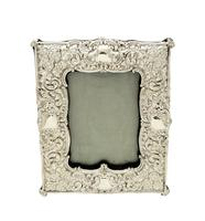 "Antique Edwardian Sterling Silver 8"" Photo Frame  1901 (5 of 10)"