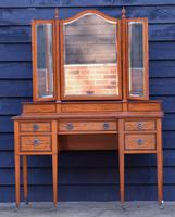 Exceptional Quality Edwardian Satinwood Dressing Table with Mirrors c.1901 (6 of 14)