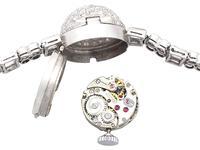 4.82ct Diamond Admina Cocktail Watch in Platinum - Art Deco - Vintage c.1940 (9 of 15)