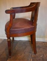 French Mahogany, Brass & Leather, Low Back Armchair (9 of 9)