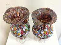 2 Beautiful Italian Murano Fratelli & Torso Millefiori Glass Vases (17 of 34)