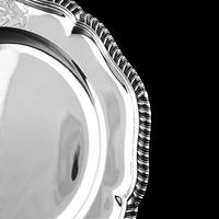 Antique Solid Silver Dish with Coat of Arms for Michael Bass, 1st Baron Burton - Garrard 1888 (15 of 21)