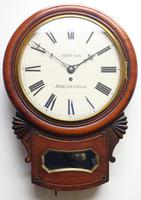 Rare Antique Drop Dial Wall Clock 8 Day Single Fusee Movement (3 of 13)