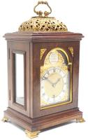 Stunning Burr Walnut Basket Top Bracket Clock by Charles Frodsham Clock Makers to The King (9 of 12)