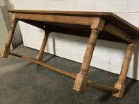 Bleached Oak Farmhouse Dining Table with Extensions (11 of 16)