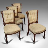 Set of 4 Antique Chairs, Scottish, Walnut, Suite, Dining, Victorian c.1890 (9 of 12)