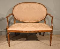 Satinwood Painted Sofa From 19th Century
