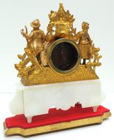 Stunning Complete French Mantel Clock Under Dome with Base Figural Mantle Clock. (4 of 10)