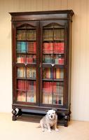 Tall Oak Glazed Bookcase (5 of 10)