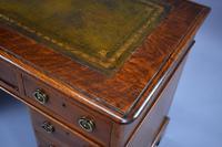 Victorian Oak & Walnut Pedestal Desk (10 of 10)