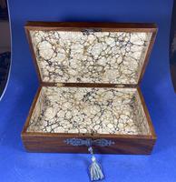 Victorian Brassbound Walnut Jewellery Box (4 of 9)