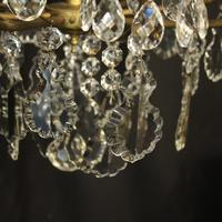 French Gilded & Crystal Birdcage 7 Light Antique Chandelier (7 of 10)